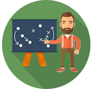 Icone Accompagnement et stratégie digitale